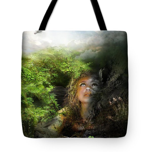 I Will Break Free Tote Bag by Mary Hood