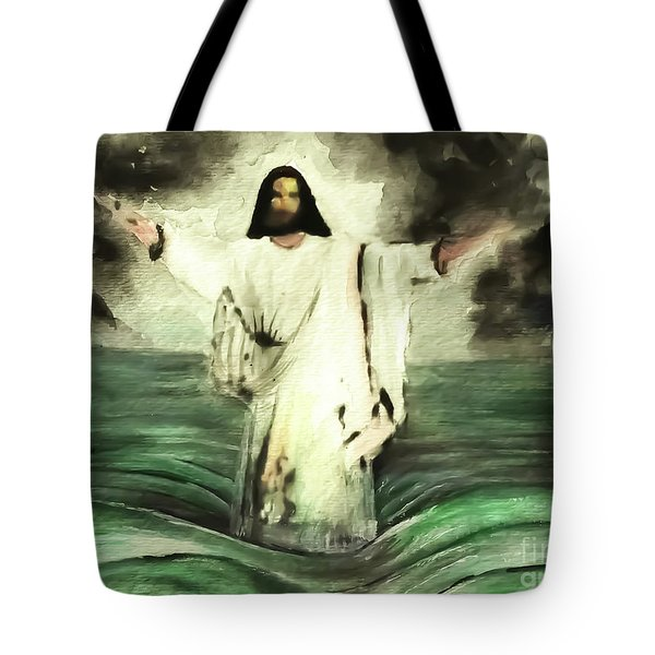 I Am Will Calm Your Sea Tote Bag