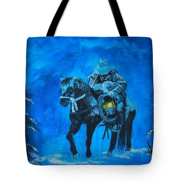 Tote Bag featuring the painting I Will Carry You by Leslie Allen