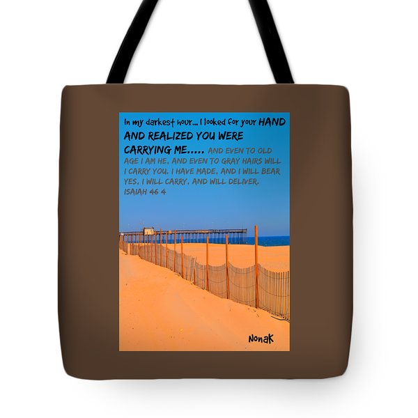 I Will Carry You Tote Bag