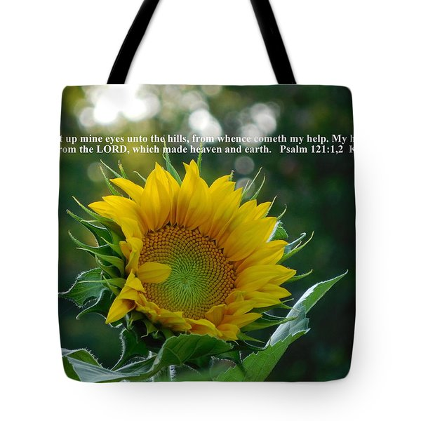 I Will Lift Up Mine Eyes Tote Bag