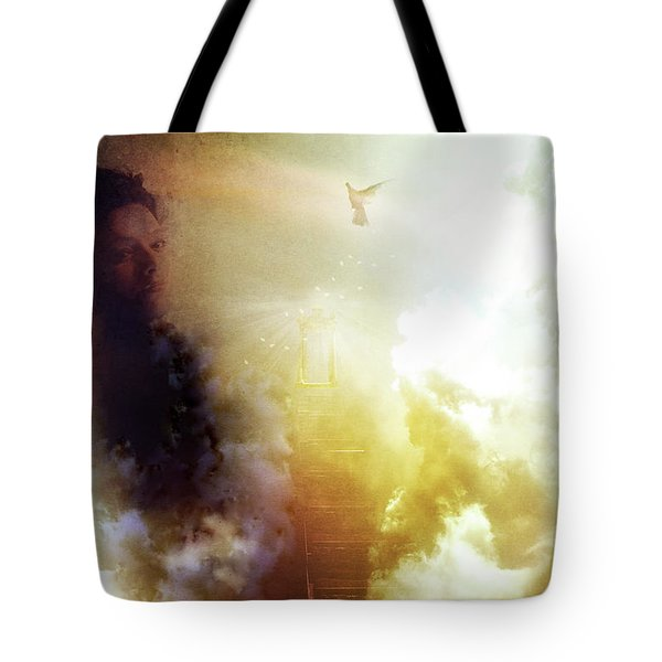 I Will Take The Stairs Tote Bag by Yvonne Emerson AKA RavenSoul
