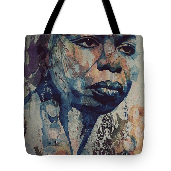 Tote Bag featuring the mixed media I Wish I Knew How It Would Be  Feel To Be Free by Paul Lovering