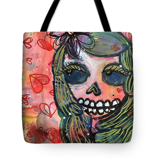 Tote Bag featuring the painting I Would Like You To Love Me by Laurie Maves ART