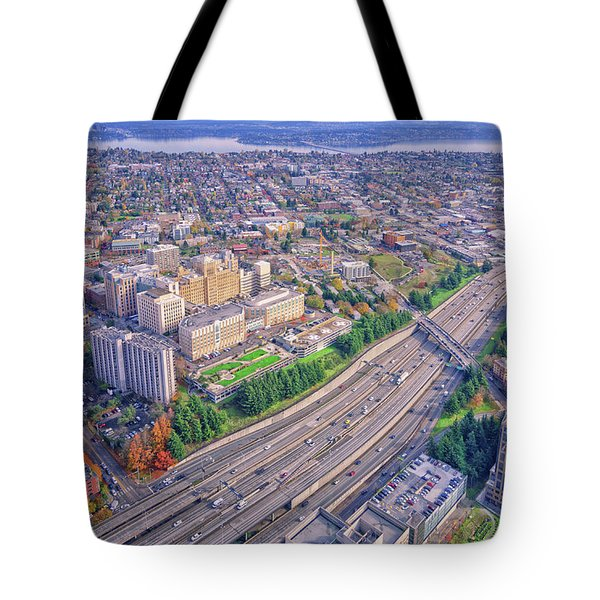 I5 Seattle Aerial View Tote Bag