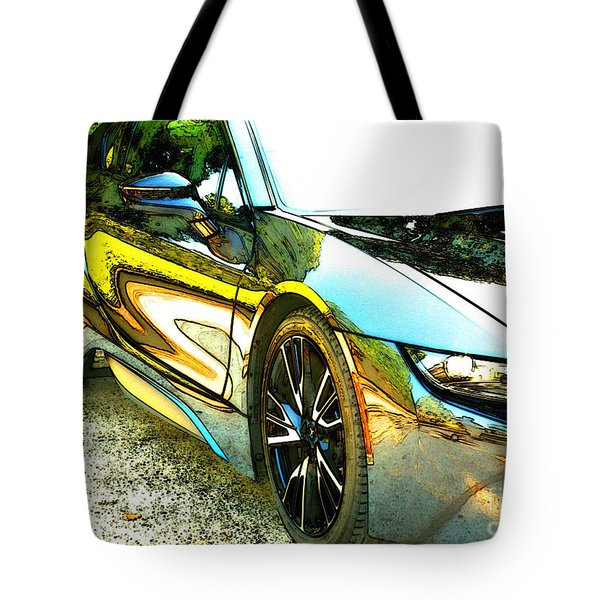i8 Alien ..where's Batman? Tote Bag by Lynn England