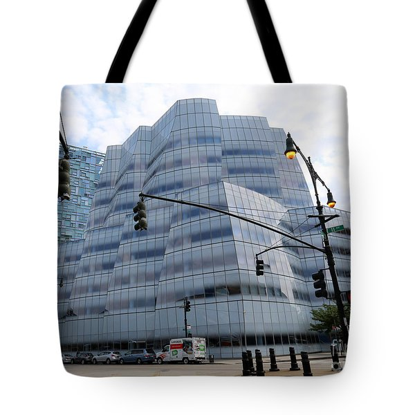 Tote Bag featuring the photograph Iac Building By Frank Gehry In Chelsea by Steven Spak