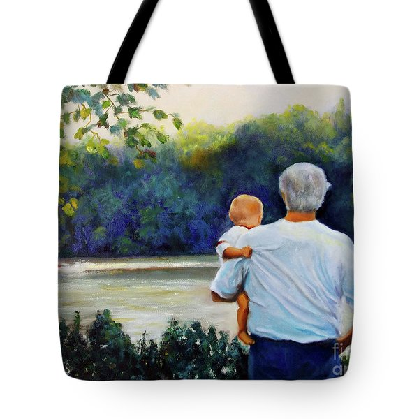 Ian And His Daddy One Sunday Afternoon Tote Bag
