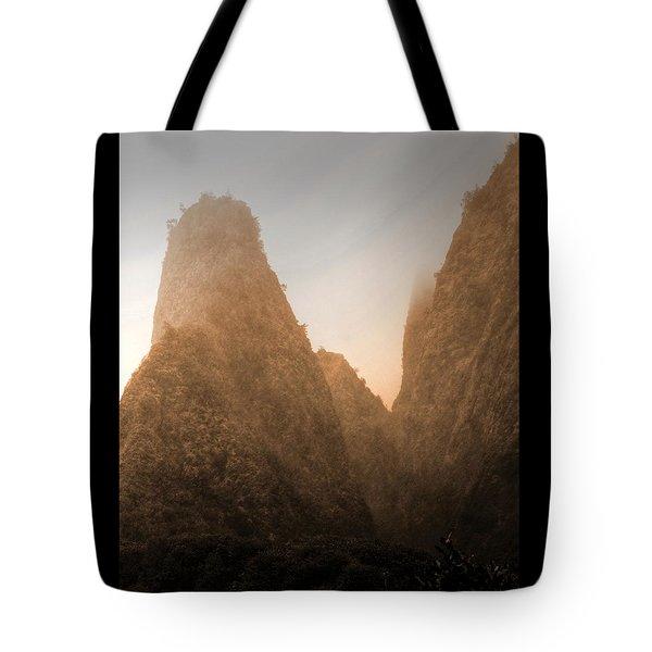 Iao Needle In Sepia Tote Bag