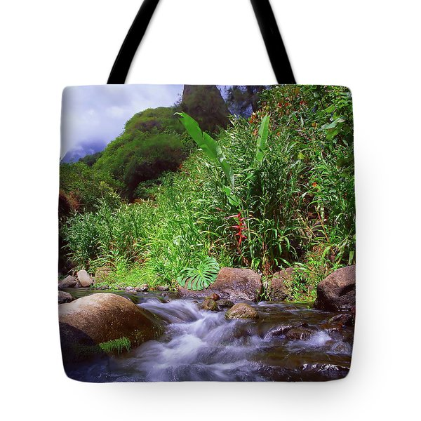 Maui Hawaii Iao Valley State Park Tote Bag