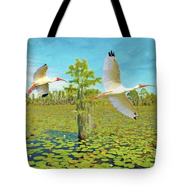 Ibis At Okefenokee Tote Bag