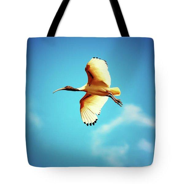 Ibis Of Light Tote Bag