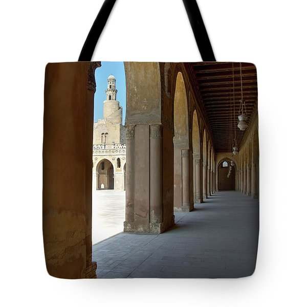 Ibn Tulun Great Mosque Tote Bag by Nigel Fletcher-Jones