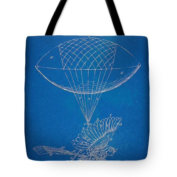 Icarus Airborn Patent Artwork Tote Bag