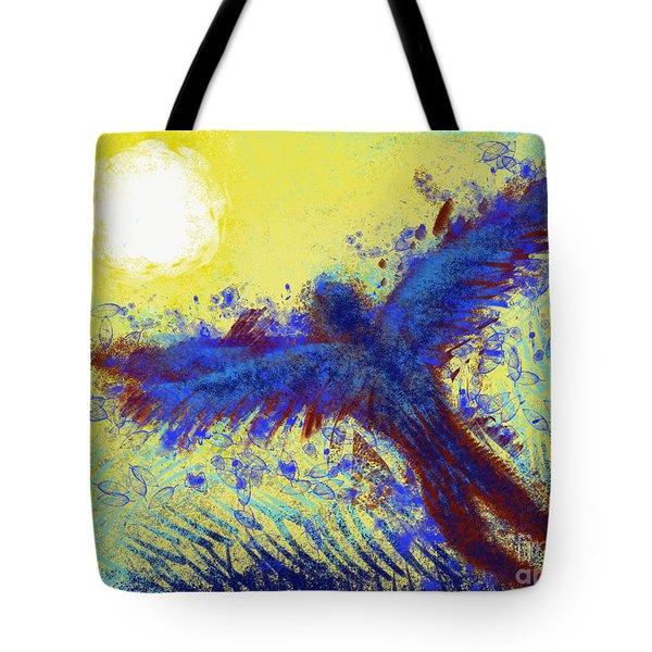 Tote Bag featuring the digital art Icarus by Antonio Romero