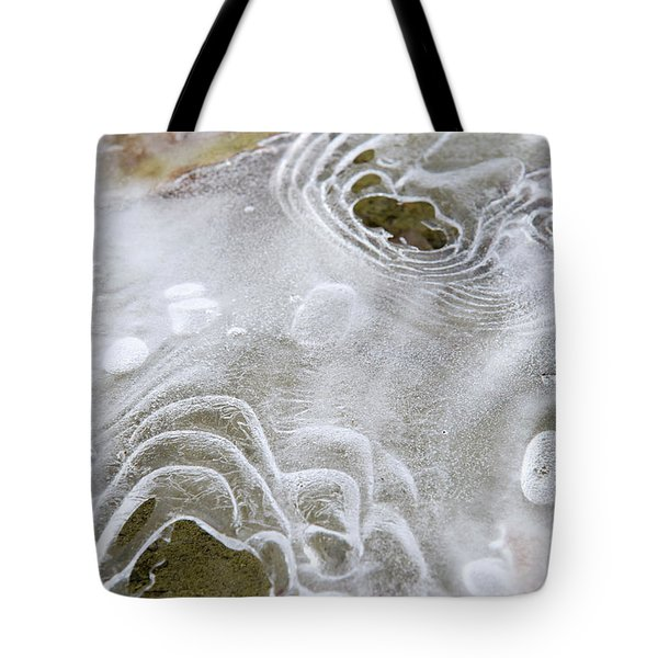 Tote Bag featuring the photograph Ice Abstract by Christina Rollo
