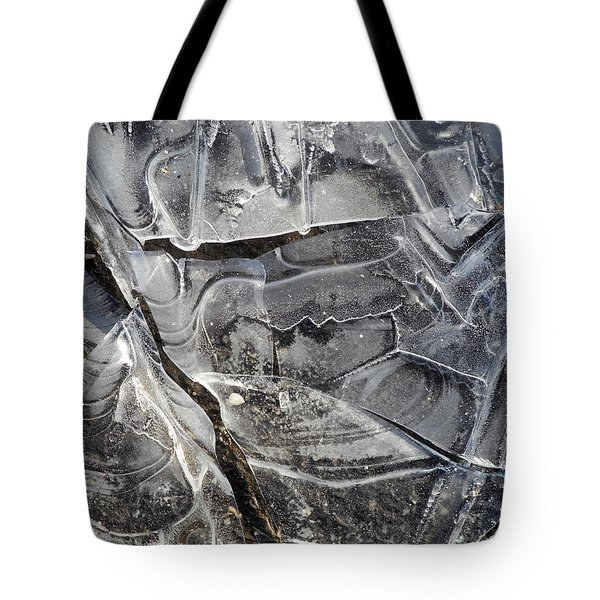 Tote Bag featuring the photograph Ice Abstract by Lynda Lehmann