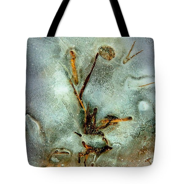 Tote Bag featuring the photograph Ice Abstract by Tom Cameron