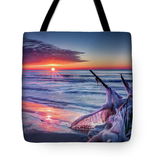 Ice Age Sunrise 1 Tote Bag