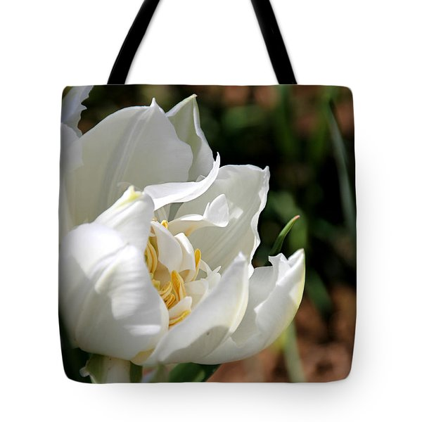 Ice Age Tulip Tote Bag by Katie Wing Vigil