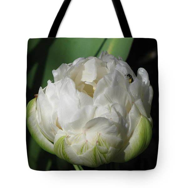 Ice Age Tulip With Insect Tote Bag by Katie Wing Vigil