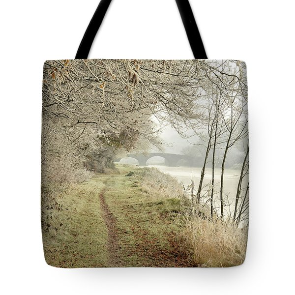 Ice And Mist Tote Bag