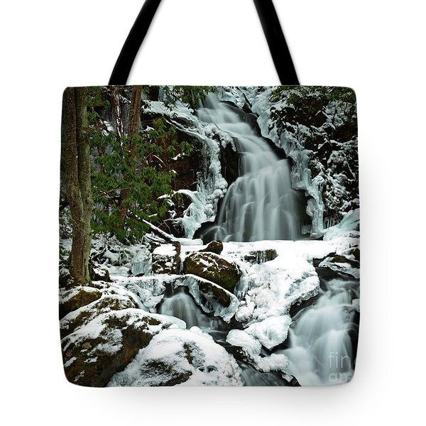 Ice And Snow, Mouse Creek Falls, Great Smoky Mountain National Park Tote Bag
