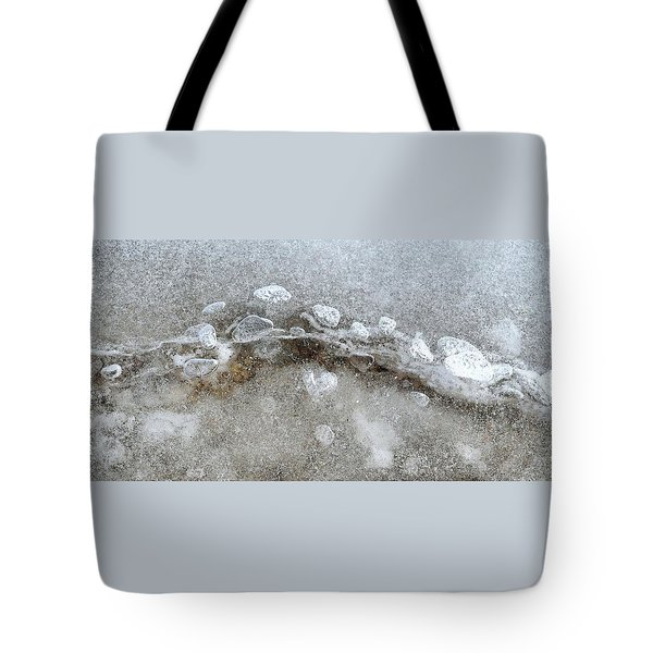 Ice And The Beach Four  Tote Bag by Lyle Crump