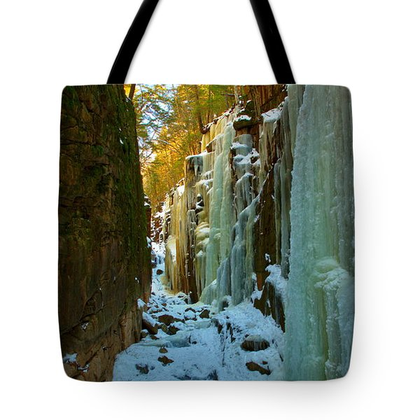 Ice At The Flume Tote Bag