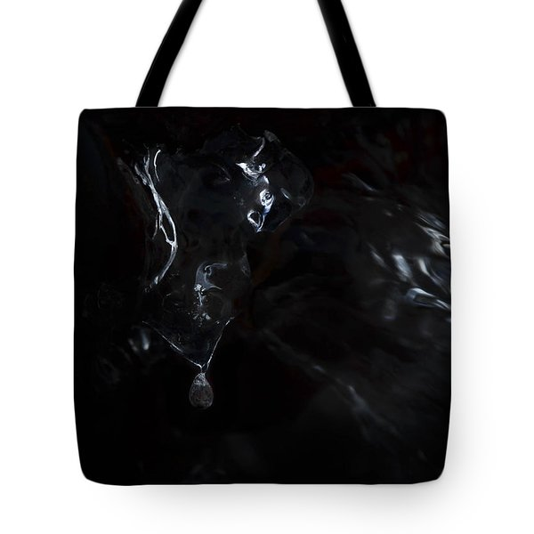 Ice Blackened Tote Bag