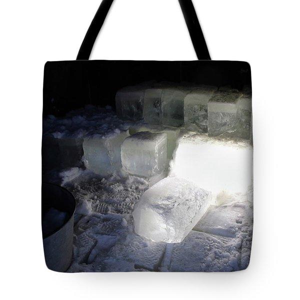 Ice Blocks In House Tote Bag