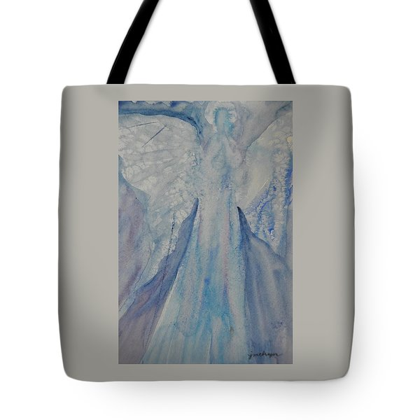 Ice Blue Angel Tote Bag by Jeanne MCBRAYER
