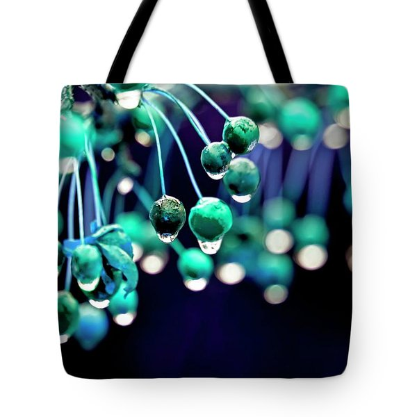Ice Blue Crab Apples  Tote Bag