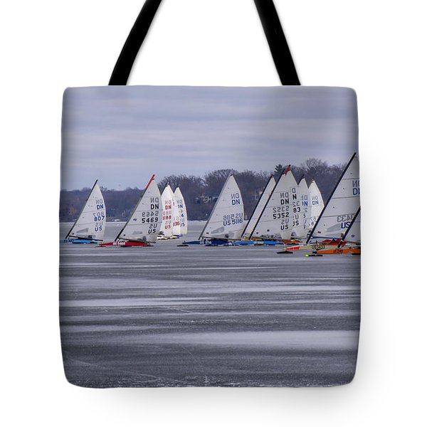Ice Boat Racing - Madison - Wisconsin Tote Bag