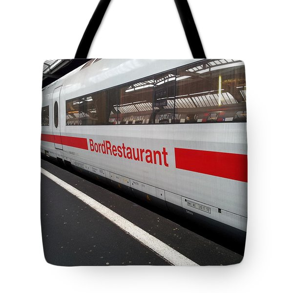 Ice Bord Restaurant At Zurich Mainstation Tote Bag