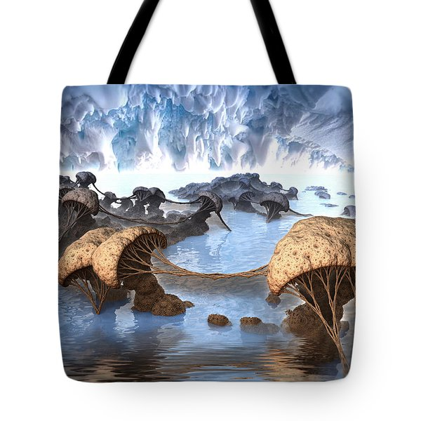 Ice Cavern Tote Bag