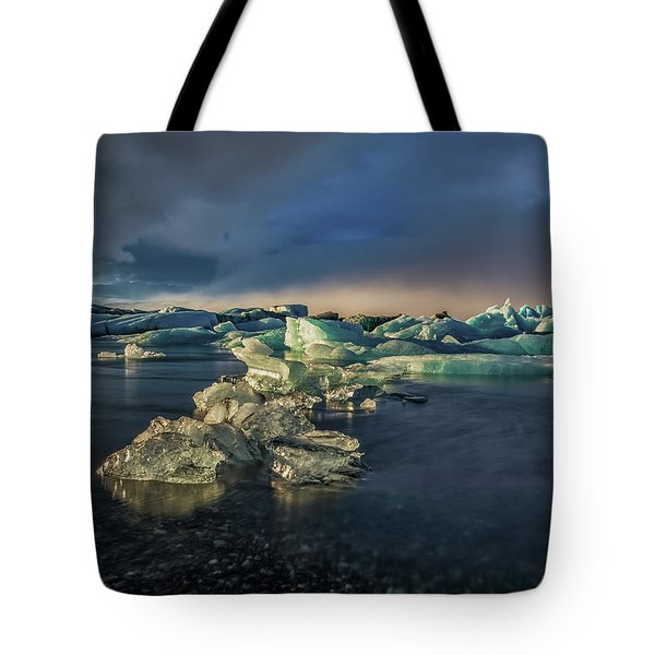 Ice Chunks Tote Bag