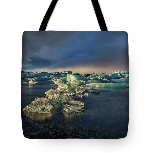 Ice Chunks Tote Bag by Allen Biedrzycki