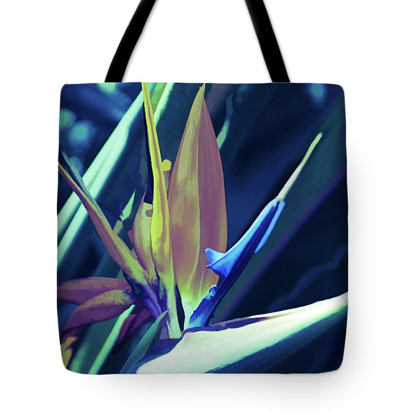 Tote Bag featuring the photograph Ice Cold Bird Of Paradise by Aimee L Maher Photography and Art Visit ALMGallerydotcom