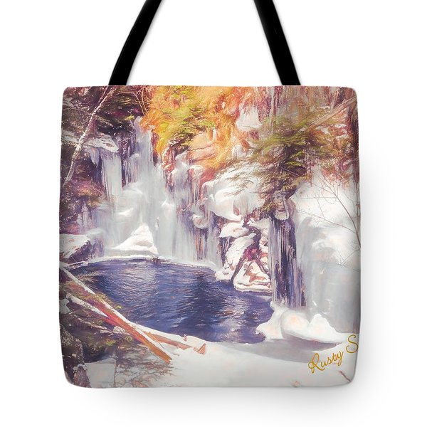 Ice Cold View Of Sages Ravine. Northwest Connecticut Tote Bag