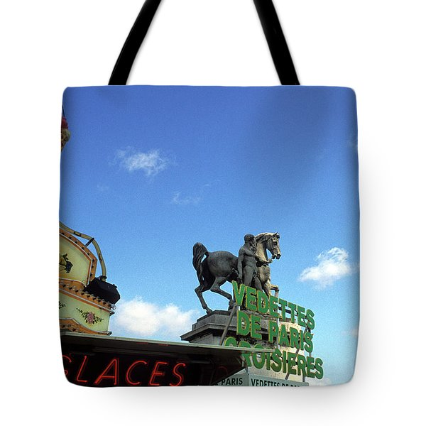 Ice Cream And The Statue Tote Bag by Kathy Yates