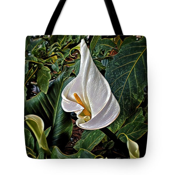 Tote Bag featuring the digital art Ice Cream Calla Lily by Pennie  McCracken