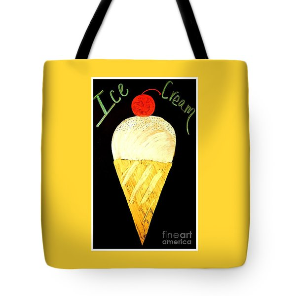 Ice Cream Cone Tote Bag by Darla Wood