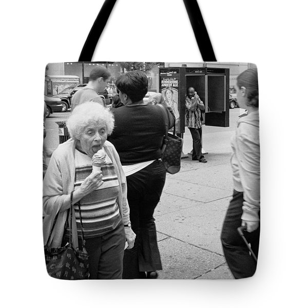 Tote Bag featuring the photograph Ice Cream Corner by Dave Beckerman