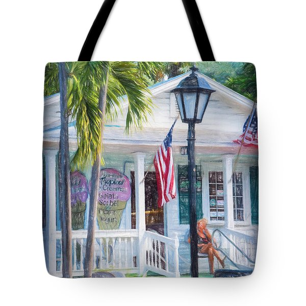 Ice Cream In Key West Tote Bag
