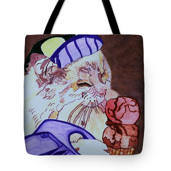 Ice Cream Kitty Tote Bag