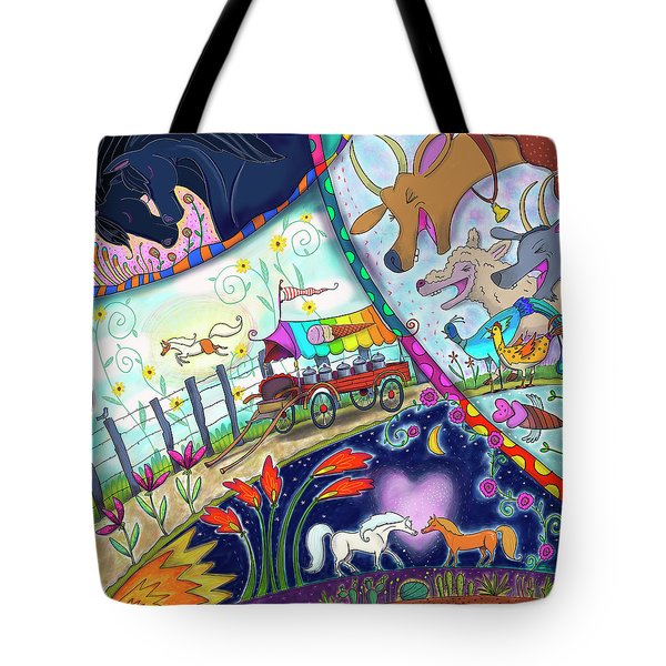 Tote Bag featuring the digital art Ice Cream Pony by Marti McGinnis