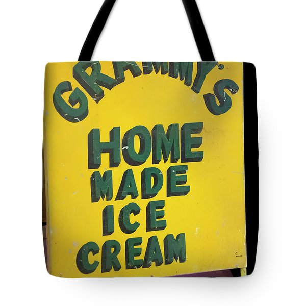 Tote Bag featuring the photograph Ice Cream Sign by Chris Flees
