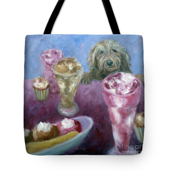 Ice Cream With Dog Tote Bag