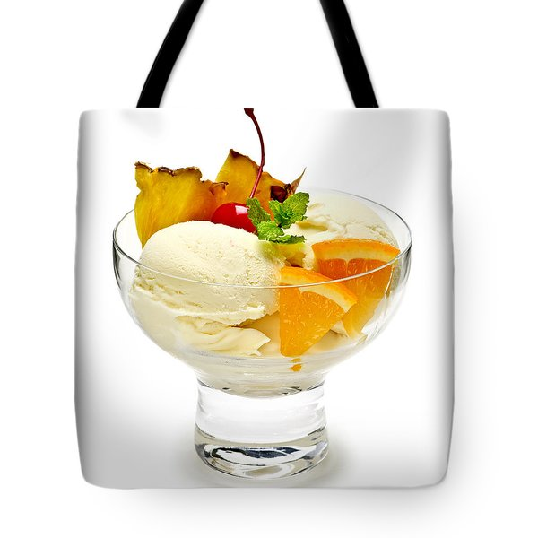 Ice Cream With Fruit Tote Bag by Elena Elisseeva
